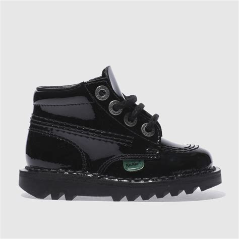 Kickers Safety Boots Adventure Black Leather kickers black kick hi patent boys toddler boots bluewater 163 50 00