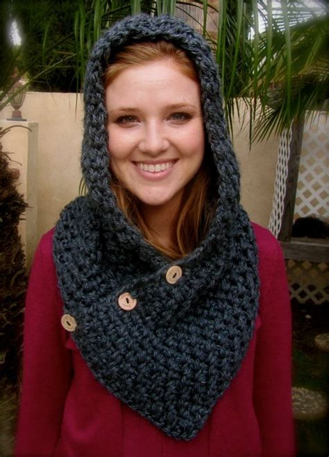 Syal Scarf Jrk Pattern Scarf P7c6be charcoal gray crochet hooded cowl neck warmer crochet hooded cowl for and inspiration
