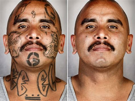 photographer removes gang members tattoos in portrait