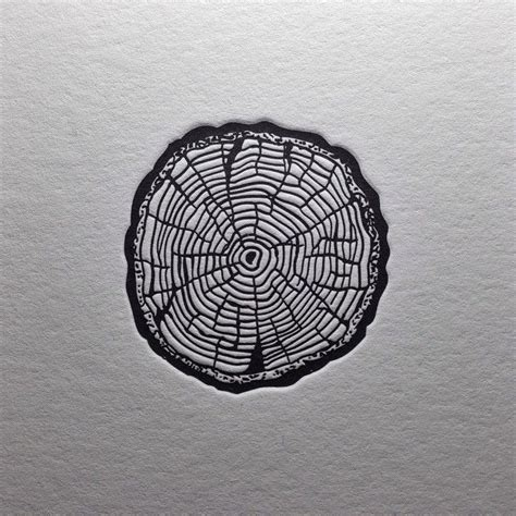 tree ring tattoo quot rings quot my sketch turned into letterpress