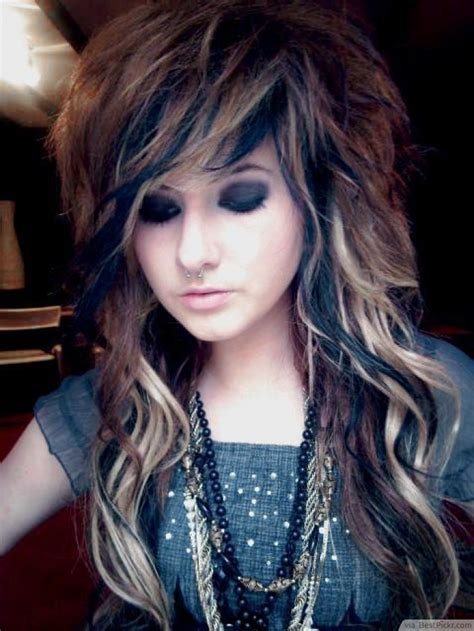 haircuts for long hair emo 10 cute long emo hairstyles for girls in 2018 bestpickr