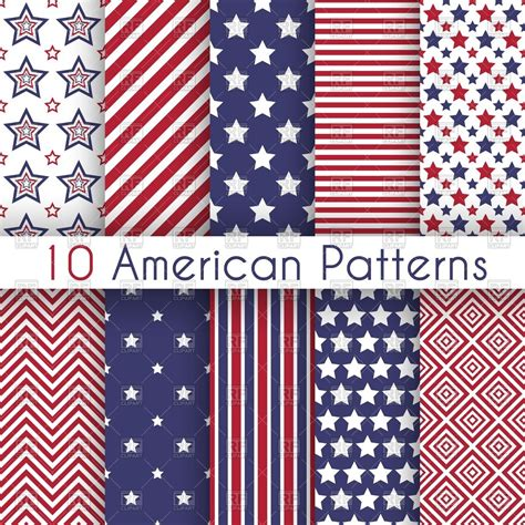 patriotic colors patriotic white and blue geometric seamless patterns
