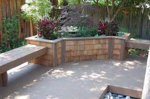m amp m builders retaining wall planter box fountain and storage soulution details