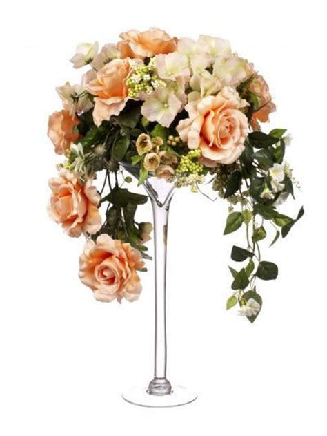 Flower Arrangements In Martini Glass Vases by Flower Arrangements In Martini Glass Vase Artificial Floral Displays