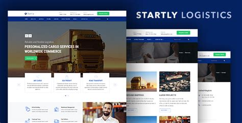 Start Ly Logistics Cargo Transportation Website Template Download Nulled Rip Logistics Website Template