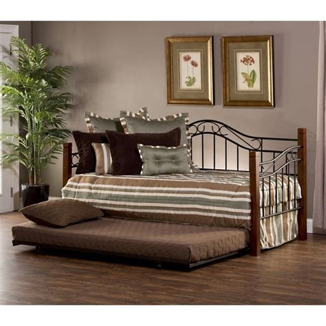 Black Daybed With Trundle Hillsdale Matson Daybed With Trundle In Cherry And Black