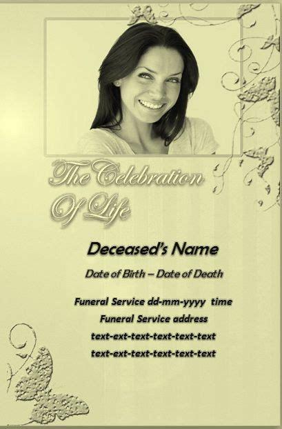 memorial service program template microsoft word memorial templates
