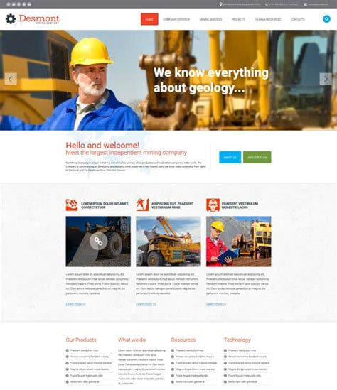 50 Best Industrial Website Templates Free Premium Freshdesignweb Best Site Templates