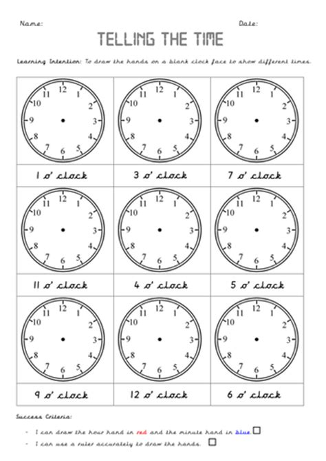 clock worksheets year 2 year 1 time 4 lessons including smart slides and