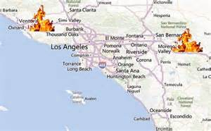 southern california fires today map southern california map fires california map