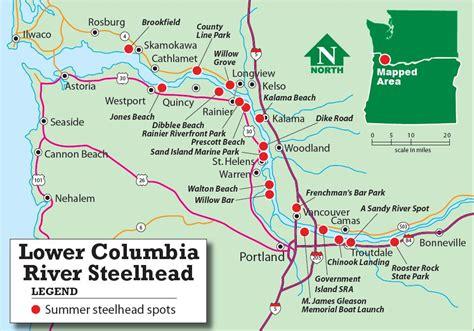 columbia river fishing map columbia steelheading on the rise northwest sportsman