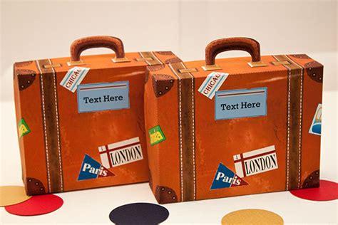Small Bag Heejou Green Caja vintage suitcase favor box diy printable pdf file
