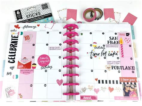 planner layout the happy planner love celebration me my big ideas