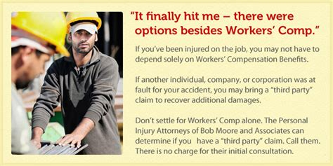 section 32 workers comp workplace injury bob moore associates