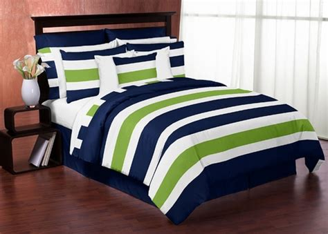 navy and green bedding navy blue and lime green stripe 4pc twin teen bedding set