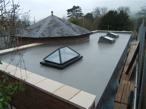 fibreglass flat roofing in grp grp waterproofing systems in ashtead angelroofing ltd