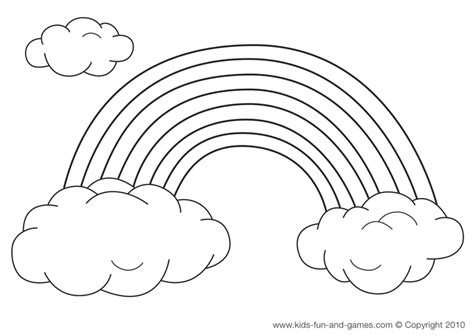 rainbow coloring sheet rainbows illustration craft on rainbows
