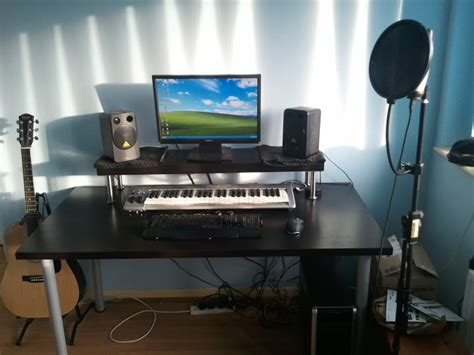 home recording studio desk cheapest home studio desk ikea hackers ikea hackers
