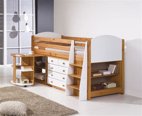 Sleeper Bunk Beds by Pine Mid Sleeper Bunk Bed