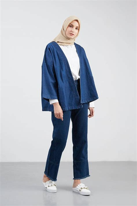 Outer Outwear Cardigan Kimono sell georgina kimono outer navy outerwear hijabenka
