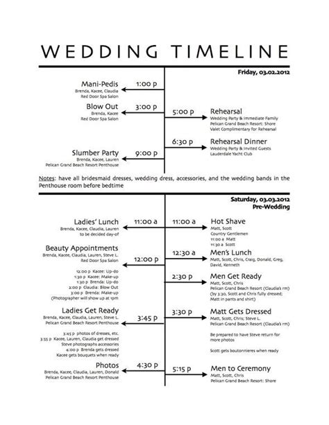 Wedding Ceremony Itinerary Template by 25 Best Ideas About Wedding Day Schedule On
