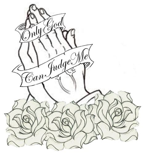 praying hands tattoo with roses black praying with banner and roses design