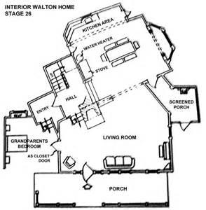 the waltons floor plan the mk ii house as it first waltons house floor plan 2nd story goodnight john boy