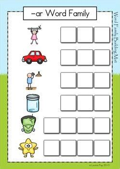 Ar Word Family Unit Activities Worksheets