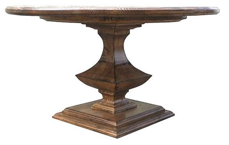 algonquin pedestal dining table in reclaimed wood