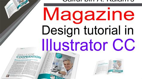 Magazine Design Youtube | magazine design tutorial in illustrator cc ম য গ জ ন