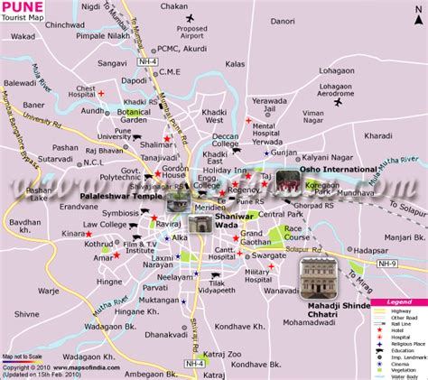 pune in map of india pune map tourist map of pune india