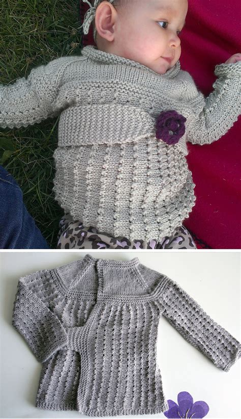 knitting pattern of baby sweater baby wrap sweater knitting patterns in the loop knitting