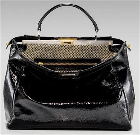 Limited Fendi Peek A Boo 23cm Original Leather Rp 4750000 2 fashionistas daily fendi peek a boo zucca tote a