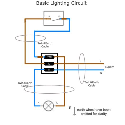 wiring a simple lighting circuit sparkyfacts co uk