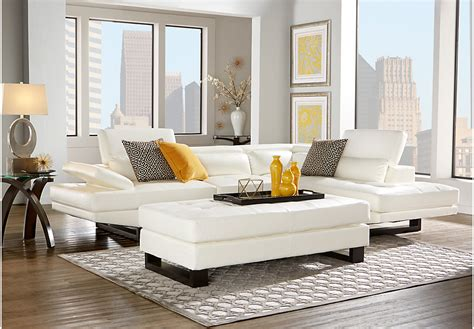 white sofa set living room nagoya white 3 pc sectional living room living room sets