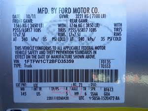 Ford Explorer Axle Codes 2011 2017 F150 Rear Gears Differential
