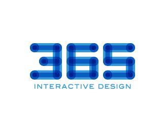 Interactive Designer Description by Logopond Logo Brand Identity Inspiration 365 Interactive Design