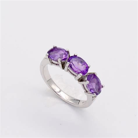 Ring Size L by Amethyst Ring Size L