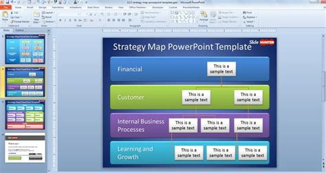 Free Strategy Map Powerpoint Template Strategy Map Powerpoint Template