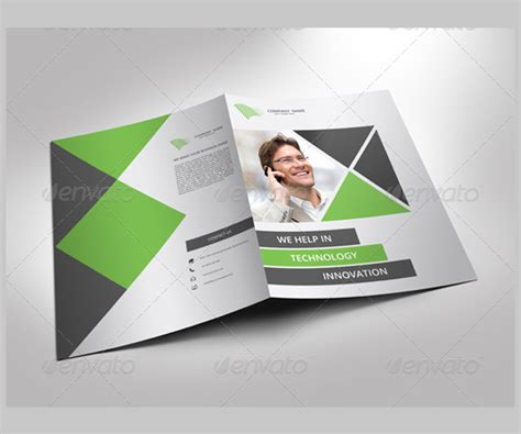 one fold brochure template 12 modern business brochure psd