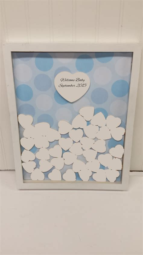 unique baby shower sign and drop in frame with by