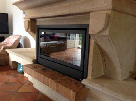 inser cheminee r 233 novation de chemin 233 e ancienne avec un insert ou un foyer