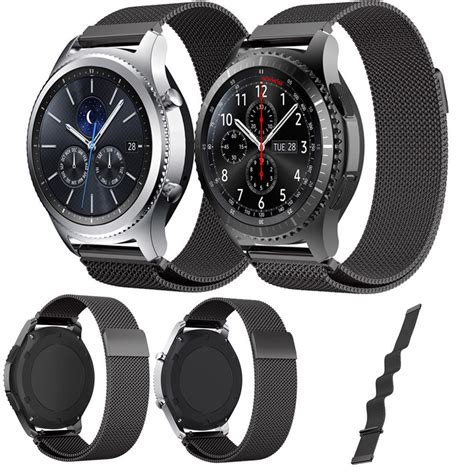 Milanese Samsung Gear S3 Classic Frontier Stainless Steel Band מוצר dahase milanese loop watchband for samsung gear s3 classic for gear s3 frontier