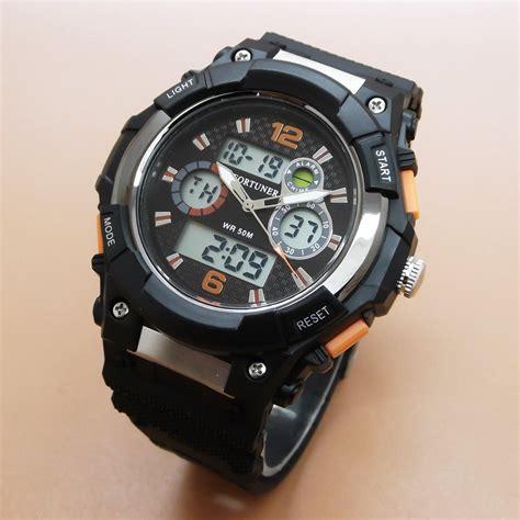 Jam Tangan Fortuner Jad657 Black Ori 1 jual beli jam tangan pria cowok fortuner dual time