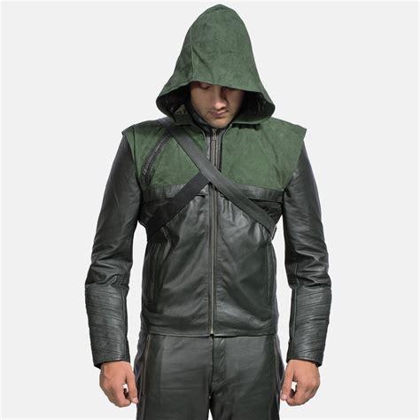 Jacket Hoodie 1 mens green hooded leather jacket