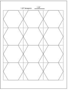 Hexagon Paper Templates by Geta S Quilting Studio Tips For Cutting Hexagon Templates