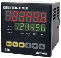 Autonics Counter Timer Fx4h I ct6 autonics counter timer touch type ct series 6