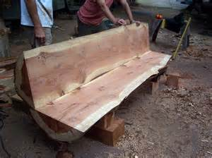 Log Benches How To Build Log Bench Slabs Pinterest Bench Logs And Log Furniture