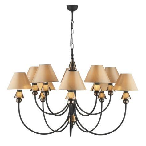 Black Chandelier Ceiling Lights Black Ceiling Light Spearhead With Decorative Bronze Detailing
