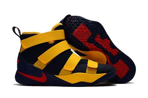 Sepatu Basket Nike Lebron Soldier 11 Yellow Blue zero defect nike lebron soldier 11 navy blue yellow s